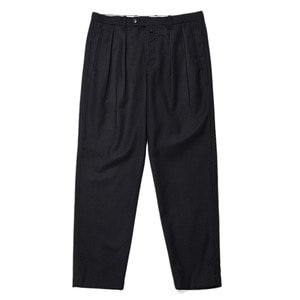 "Still by Hand Multi Fabric Wool Pants ""Navy"""