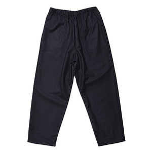 "DANTON #JD-2564 Wool Flannel Tapered Pants ""Navy"""