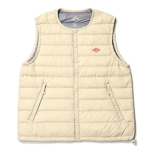 "DANTON #JD-8749 Nylon Taffeta Down Vest ""Cream"""