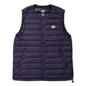 "DANTON #JD-8752 Nylon Taffeta Down Vest ""Navy"""