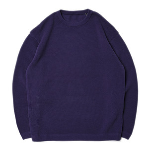 "CREPUSCULE Moss Stitch L/S ""Purple"""