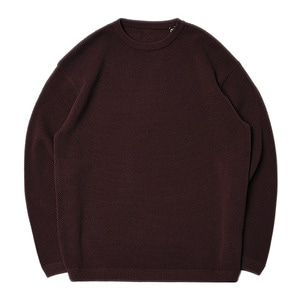 "CREPUSCULE Moss Stitch L/S ""Brown"""