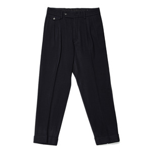 "KAPTAIN SUNSHINE Two Pleats Trousers ""Navy"""