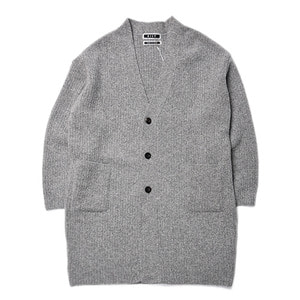 "KIIT Wool Long Cardigan ""Gray"""