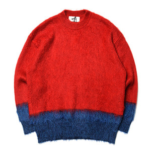 "UNITUS Mohair Crew Sweater ""Red"""