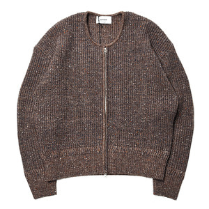 "UNITUS Over Knit Cardigan ""Brown"""