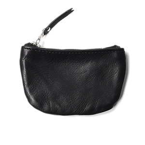 "MAPLE Zip Pouch Wallet ""Black Leather"""