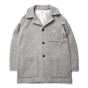 "DANTON #JD-8825 Wool Mossa Regular Collar Work Jacket ""H.Grey"""
