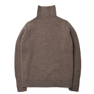 "Andersen-Andersen Navy Turtleneck ""Natural Taupe"""