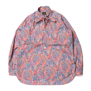 "NEEDLES Ascot Collar EDW Gather Shirts Liberty Print ""Navy"""