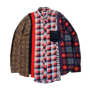 "NEEDLES Rebuild by Needles 7 Cuts Flannel Shirts ""Inserted 4 Cluths"" A (M Size)"