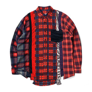 "NEEDLES Rebuild by Needles 7 Cuts Flannel Shirts ""Inserted 4 Cluths"" B (M Size)"