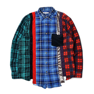 "NEEDLES Rebuild by Needles 7 Cuts Flannel Shirts ""Inserted 4 Cluths"" C (M Size)"