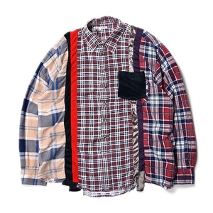 "NEEDLES Rebuild by Needles 7 Cuts Flannel Shirts ""Inserted 4 Cluths"" A (L Size)"