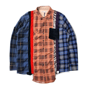 "NEEDLES Rebuild by Needles 7 Cuts Flannel Shirts ""Inserted 4 Cluths"" B (L Size)"