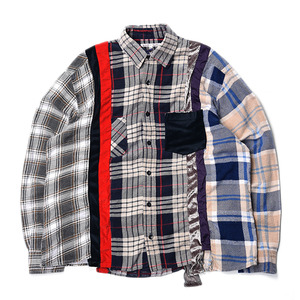 "NEEDLES Rebuild by Needles 7 Cuts Flannel Shirts ""Inserted 4 Cluths"" C (L Size)"