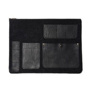 "AMIACALVA Pocket Clutch ""Black"""