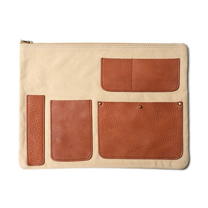"AMIACALVA Pocket Clutch ""Natural"""