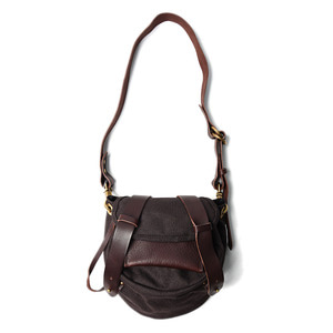 "AMIACALVA Linen Body Bag ""Brown"""