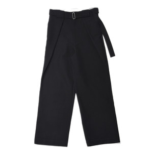 "SOE Belted Tuck Trousers ""Black"""