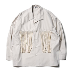 "SOE L/S Fringe Shirts ""Off White"""