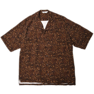 "SOE Open Collar Shirt Paisely Pattern ""Brown"""