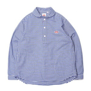 "DANTON #JD-3568 Oxford Shirts ""Blue Gingham"""