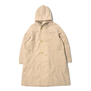 "DANTON #JD-8739 Nylon Taffeta Hooded Coat ""Sand Beige"" (Women's)"