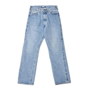 "KAPTAIN SUNSHINE Baggy Cut Straight Denim Pants Washed ""Indigo Long Wash"""