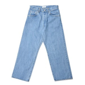 "HATSKI Wide Tapered Denim Used ""Ice Blue"""