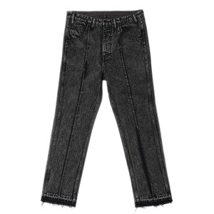 "BUKHT Pin Tuck Slim Tapered 5P Jeans 13oz Selvage Denim ""Black Chemical Wash"""
