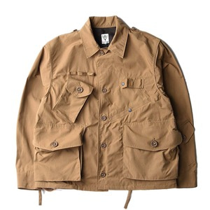 "South2 West8 Tenkara Shirt Wax Coating ""Tan"""