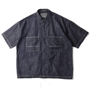 "KIIT 8oz Denim S/Sleeve Shirts ""Indigo"""
