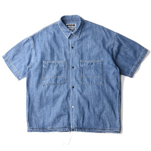 "KIIT 8oz Denim S/Sleeve Shirts ""Indigo Bio Fade"""