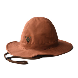 "SOUTH2 WEST8 Crusher Hat (Cotton Canvas / Paraffin Coating) ""Brown"""