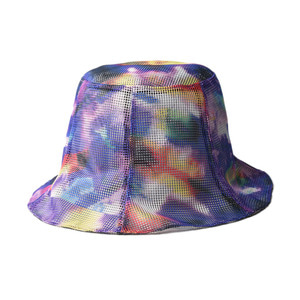"SOUTH2 WEST8 Reversible Tulip Hat Poly Mesh ""Tie Dye"""