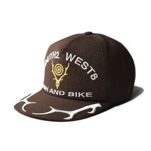 "SOUTH2 WEST8 Apollo Cap ""Deer Skull&Horn Emb ""Brown"""