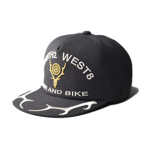 "SOUTH2 WEST8 Apollo Cap ""Deer Skull&Horn Emb ""Grey"""