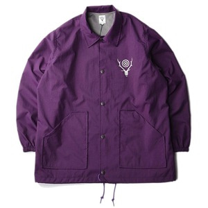 "South2 West8 Coach Jacket Nylon Oxford / Acrylic Coating ""Purple"""