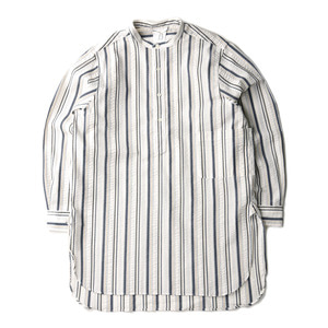 "BROWNYARD Tunic Shirt ""Multi Stripe Seersucker"""
