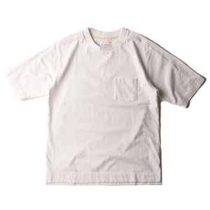 "Still by Hand Wide Neck T-Shirt ""White"""