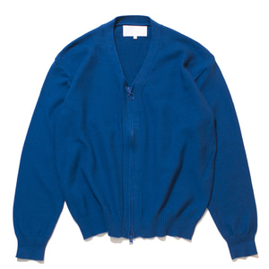 "GAKURO Zippered Cardigan ""Blue"""