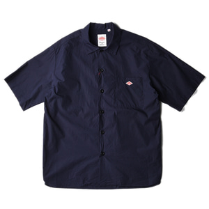 "DANTON #JD-3609 Open Collar Shirts ""Navy"""