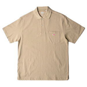 "DANTON #JD-9126 Short Sleeve Polo Shirt ""Beige"""