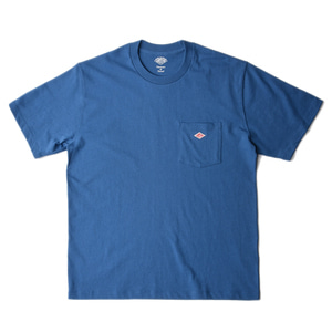 "DANTON #JD-9041 Cotton Pocket T-Shirt ""Blue"""