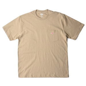 "DANTON #JD-9041 Cotton Pocket T-Shirt ""Beige"""