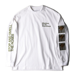 "CHILDREN OF THE DISCORDANCE Sastr Rose Embroidery L/S Shirts ""White"""