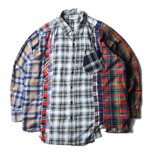 "NEEDLES Rebuild by Needles Flannel Wide 7 Cuts  Shirts ""D"""