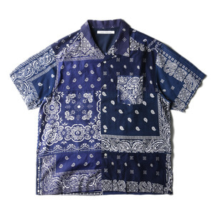 "CHILDREN OF THE DISCORDANCE Vintage Bandana Patch Shirt ""Navy"""