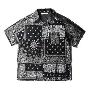 "CHILDREN OF THE DISCORDANCE Vintage Bandana Patch Shirt ""Black"""